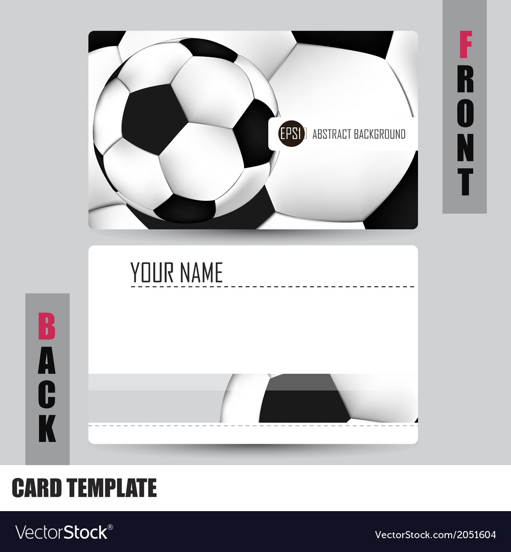 Modern Soccer Business-Card Set Royalty Free Vector Image