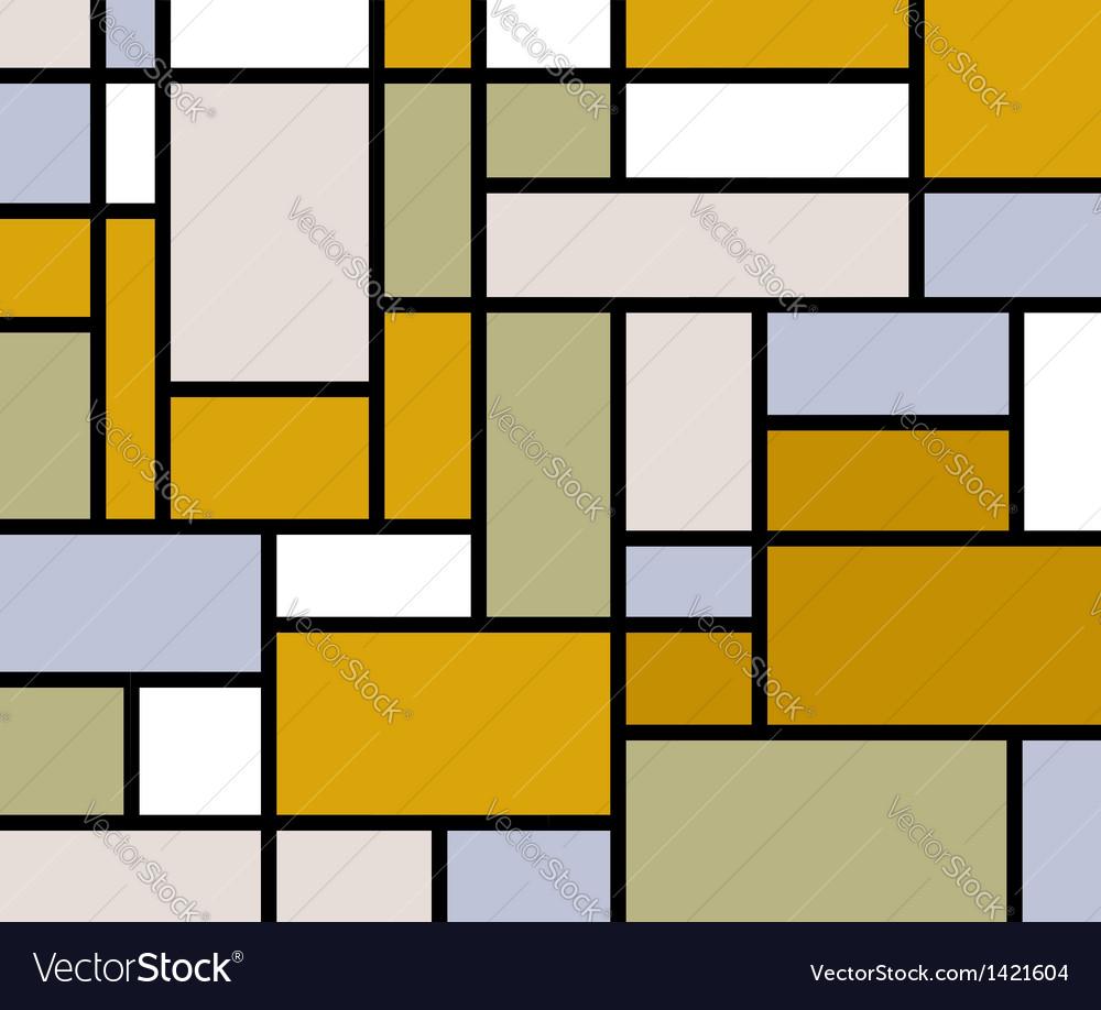 Mondrian goes retro print vector image
