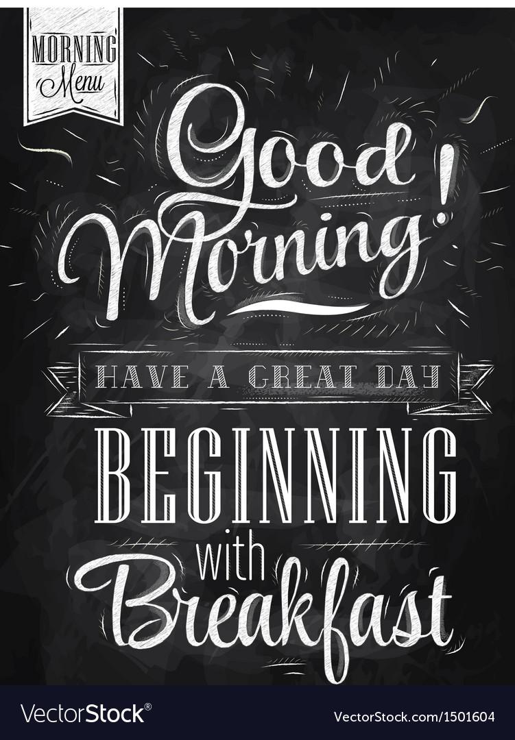 Poster Good Morning chalk vector image