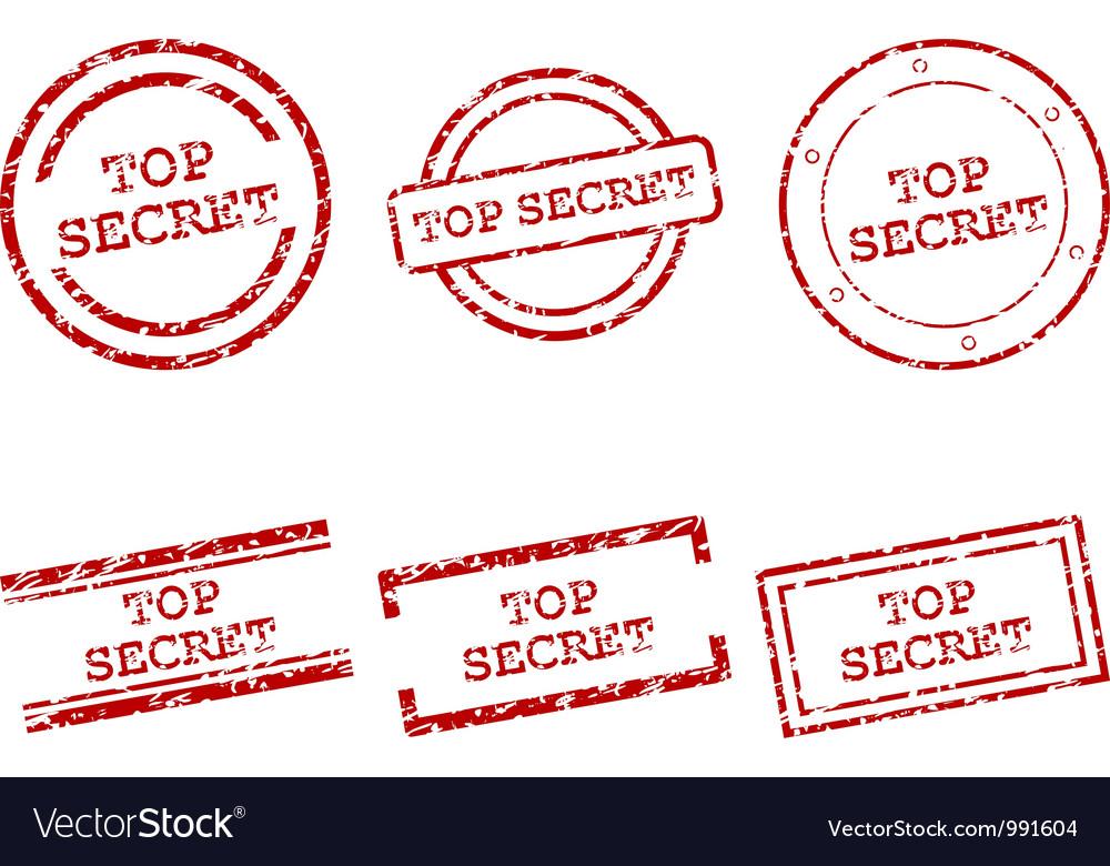 Top secret stamps vector image