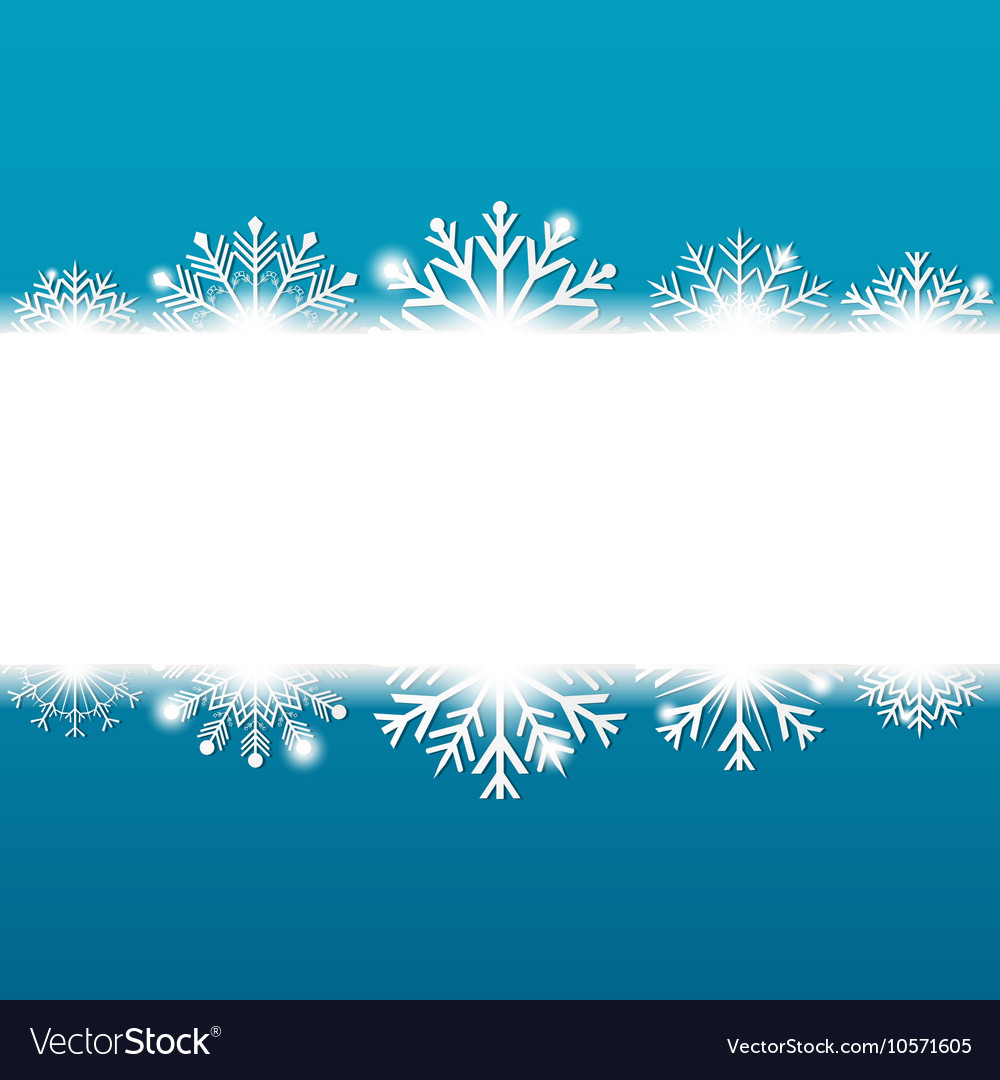 Blue Christmas background with snowflakes and vector image
