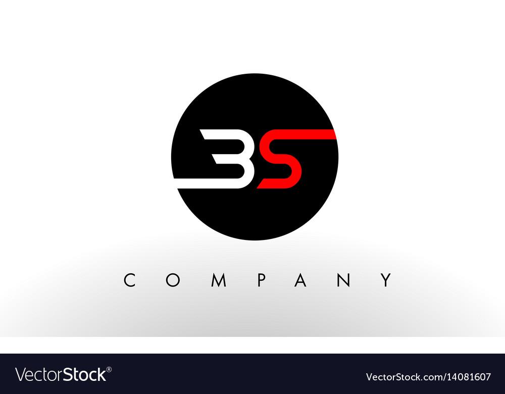Bs logo letter design vector image