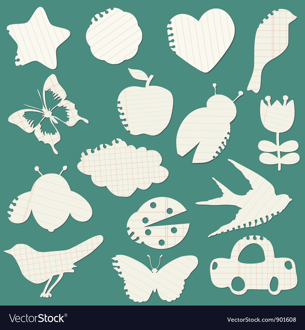 Set of Paper Tags vector image