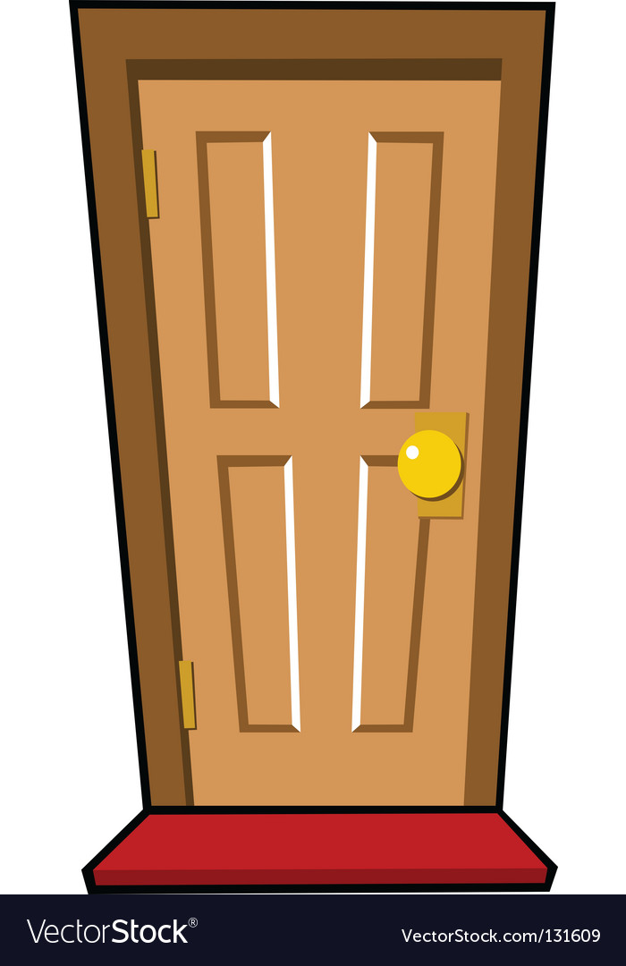 Brown door vector image