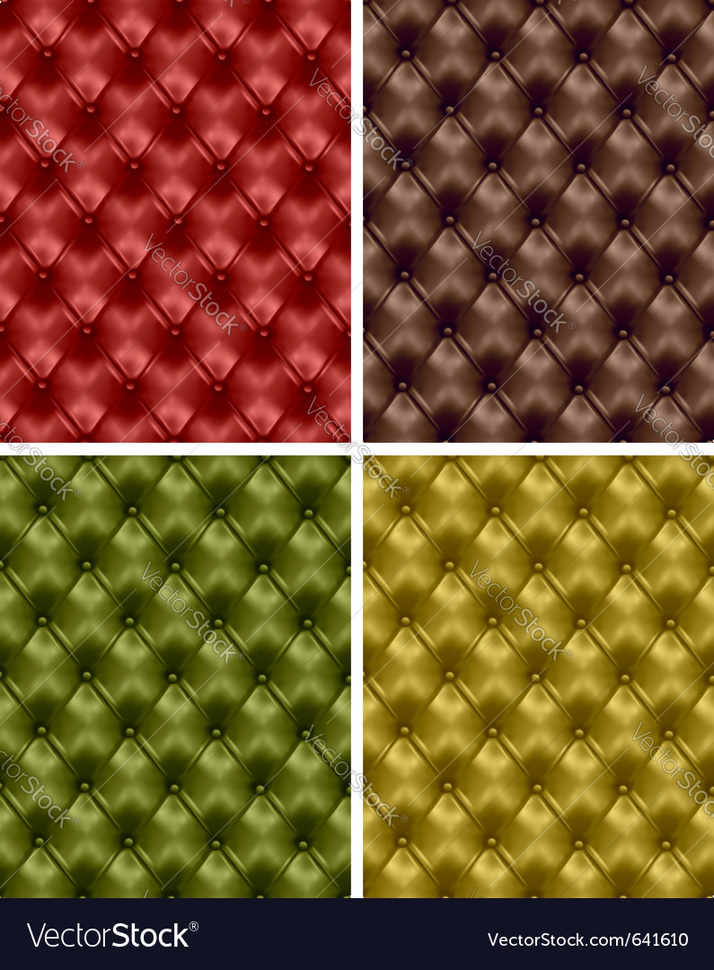 Button-tufted leather backgrounds vector image