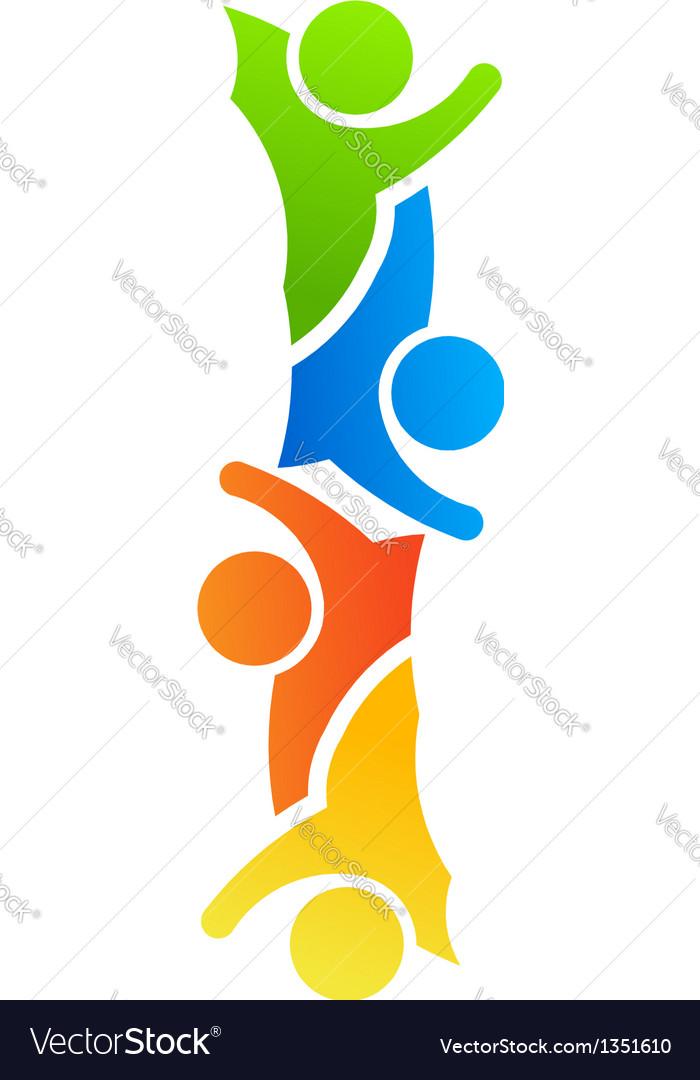 Alphabet Teamwork Letter I vector image