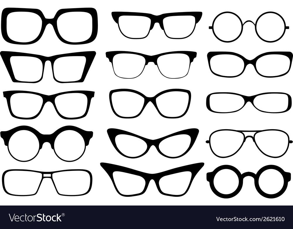 Fashion glasses vector image