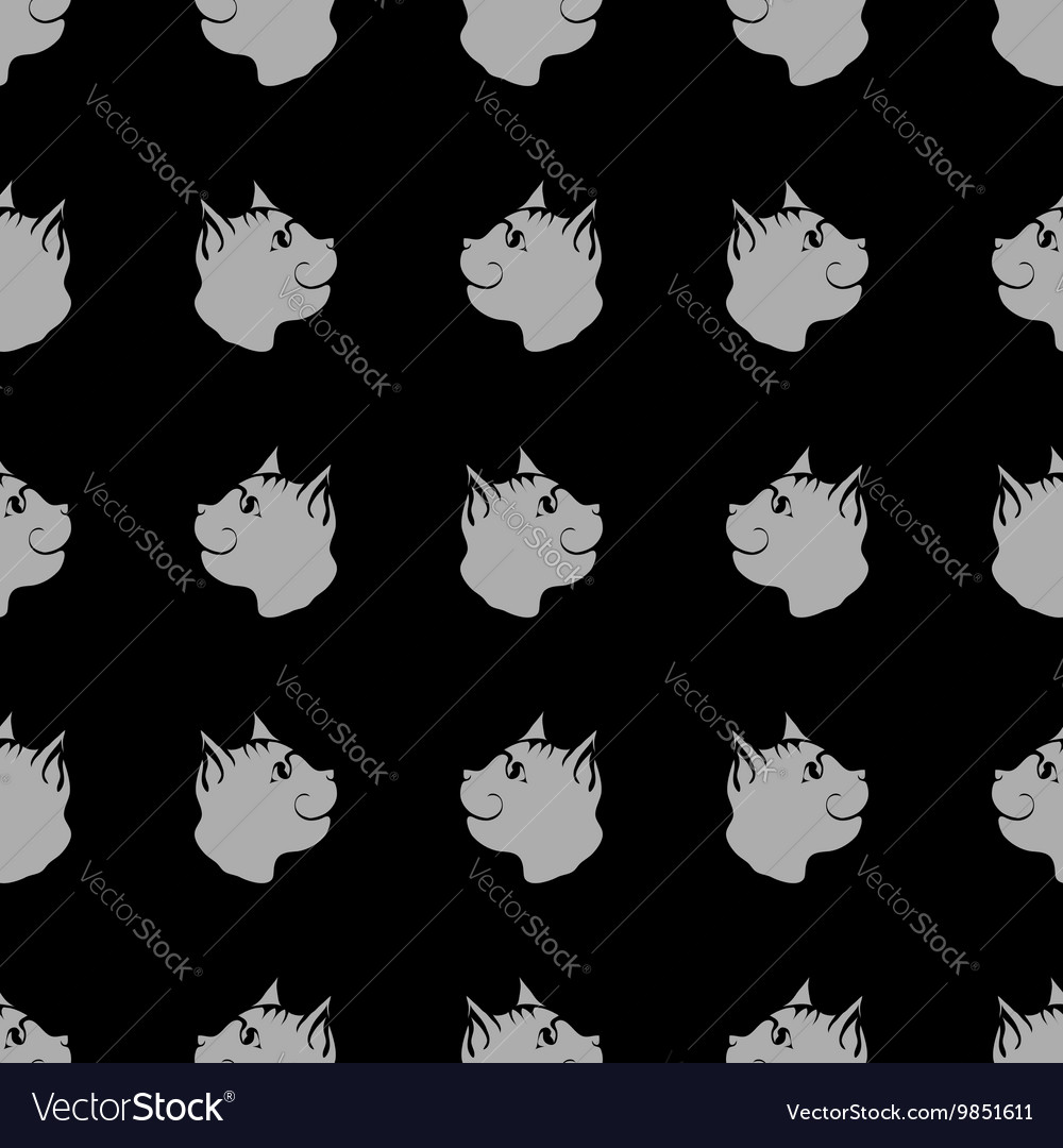 Cat Seamless Animal Pattern vector image