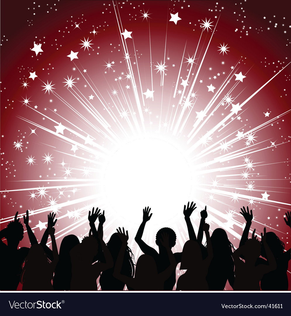 Crowd and lights vector image