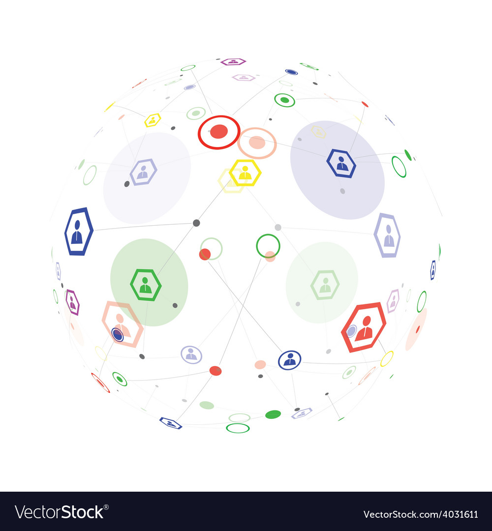Human globe connection vector image