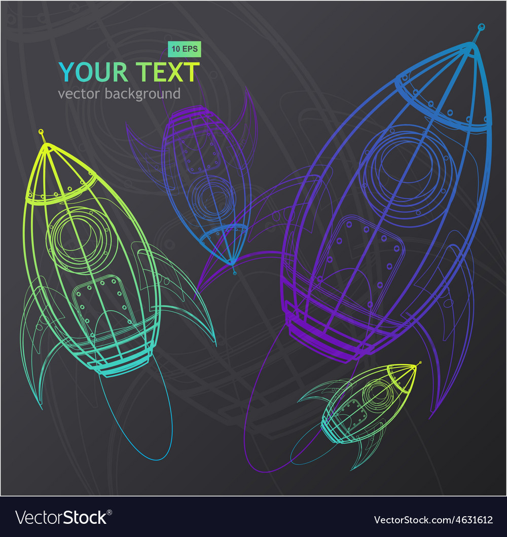 Rocket background vector image