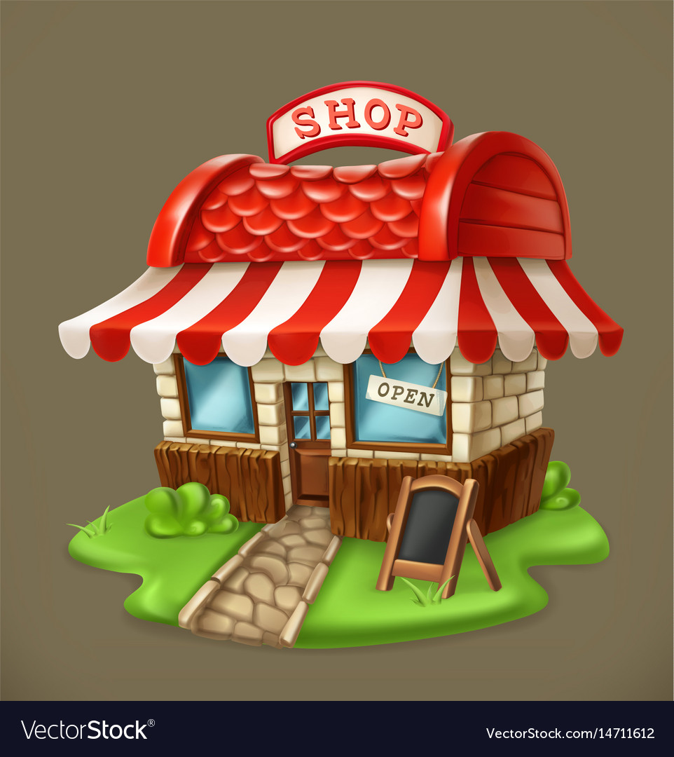 Shop 3d icon vector image
