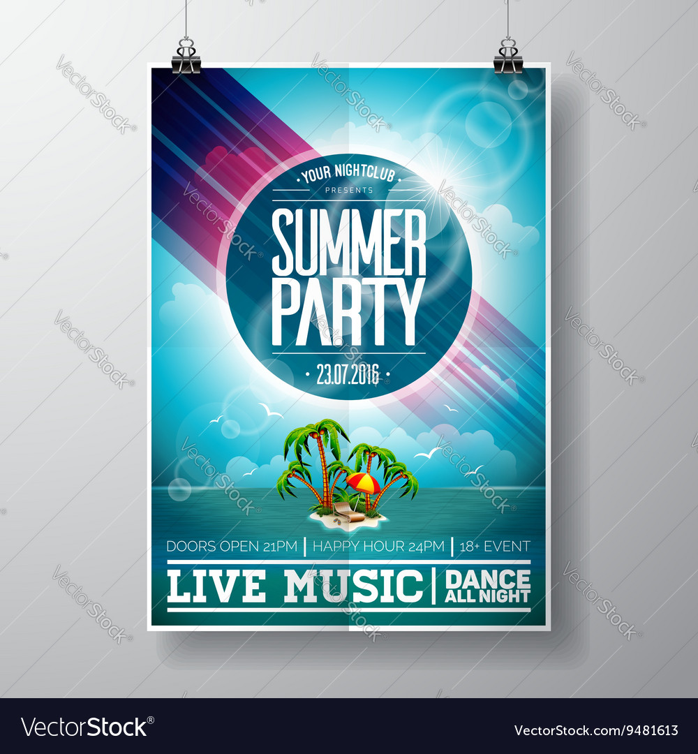 Graphic 151 52 summerparty vector image