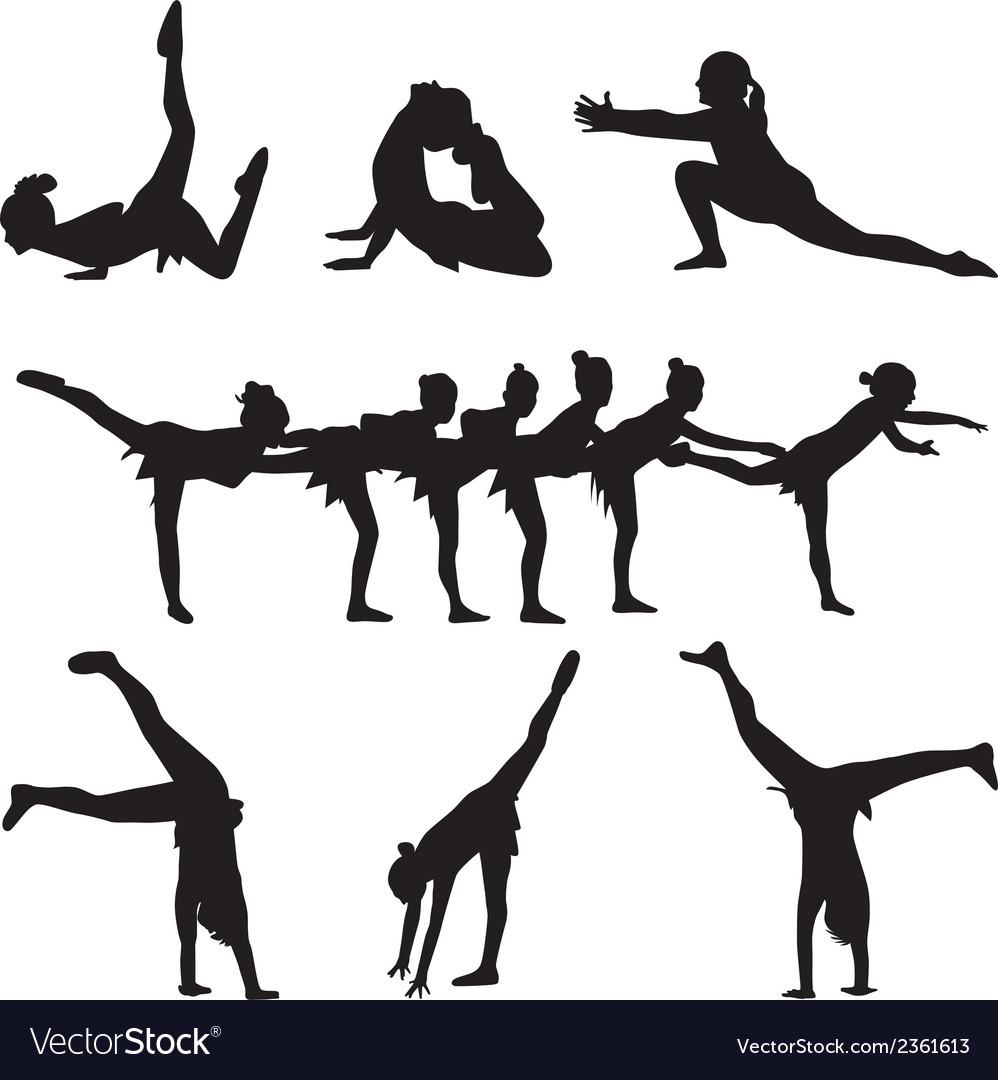 Gymnastics and dance vector image