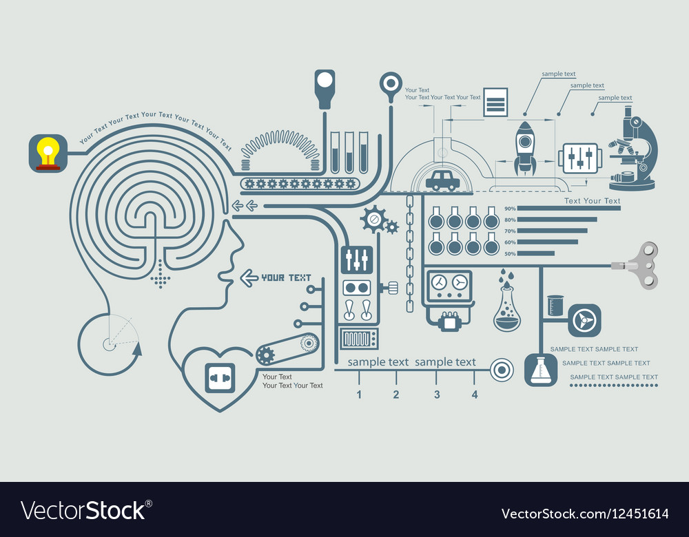 Concept of education and science vector image