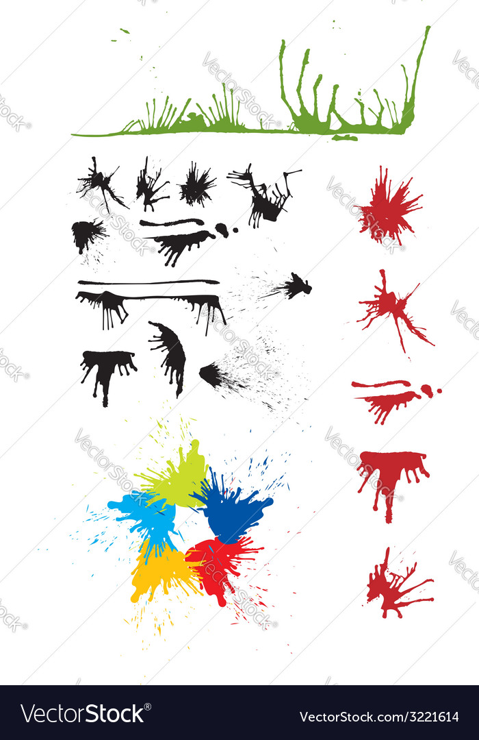 Splash grunge vector image