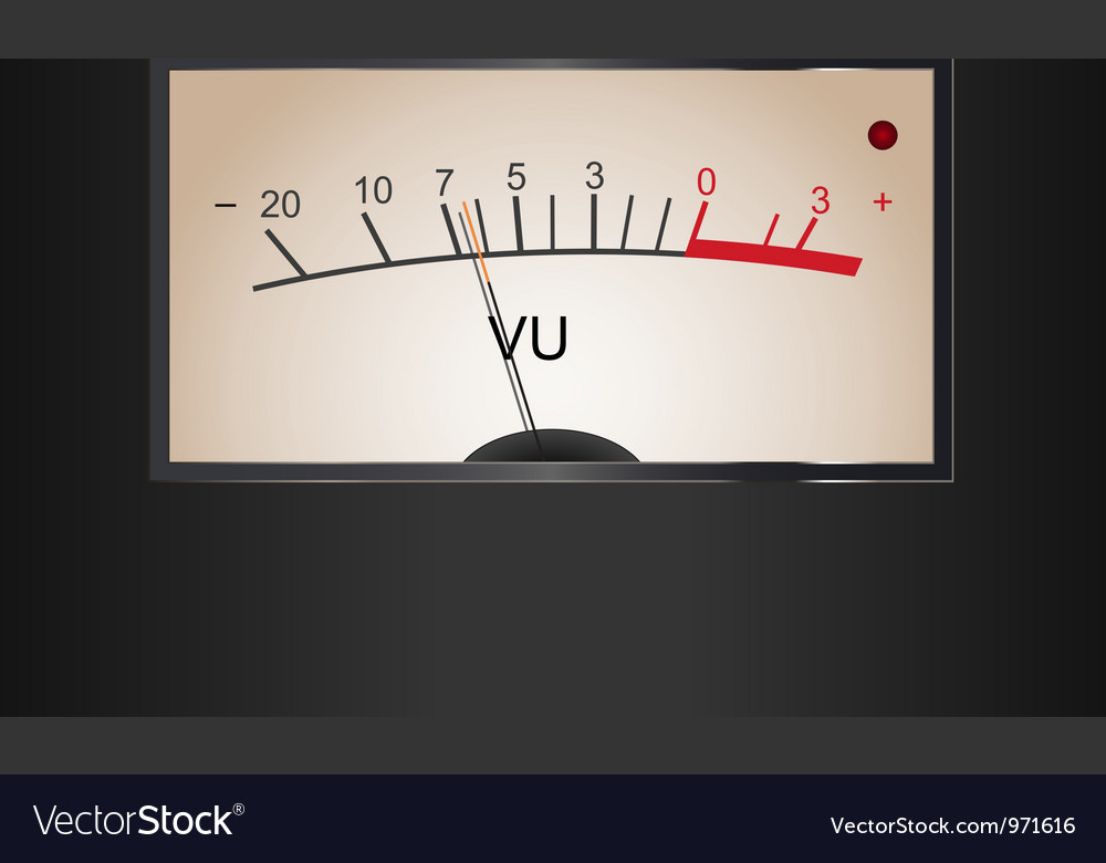 Analog VU Meter Vector Image