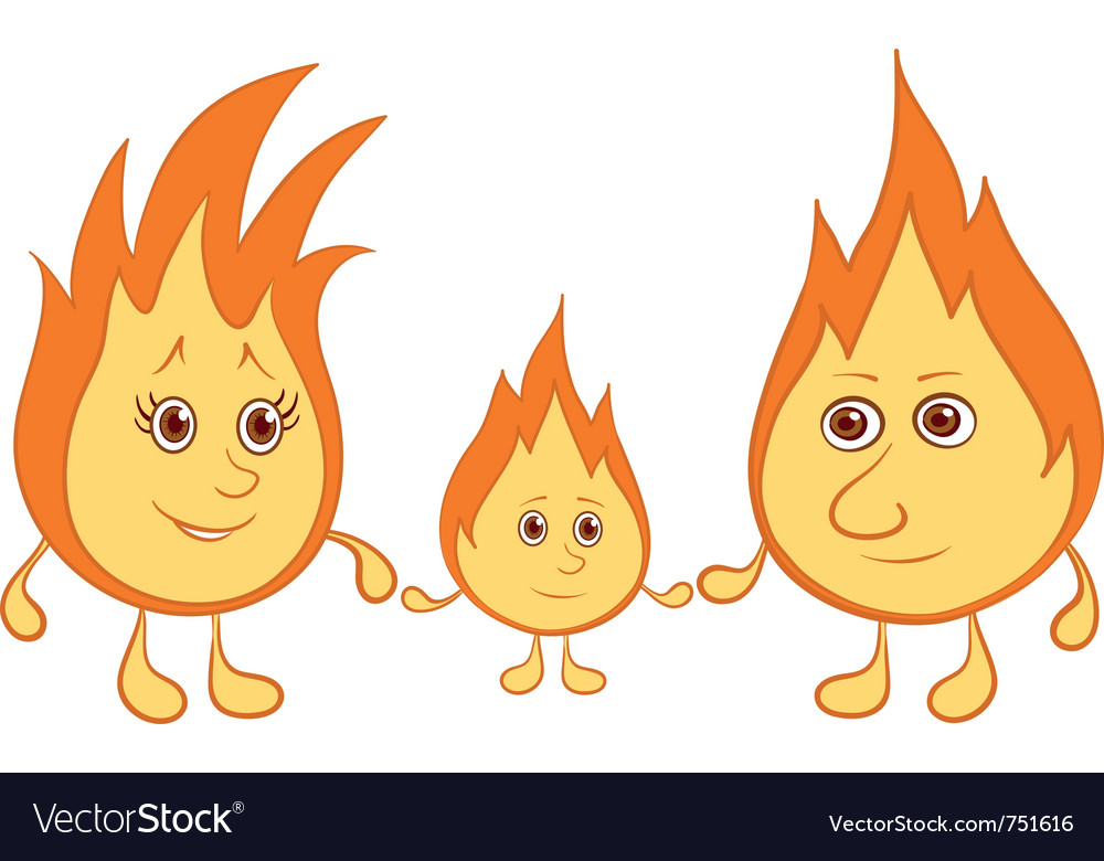 Lights family vector image
