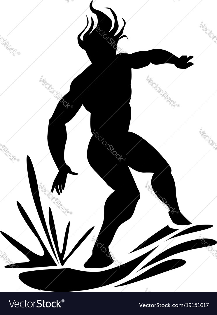 Man water surfing vector image