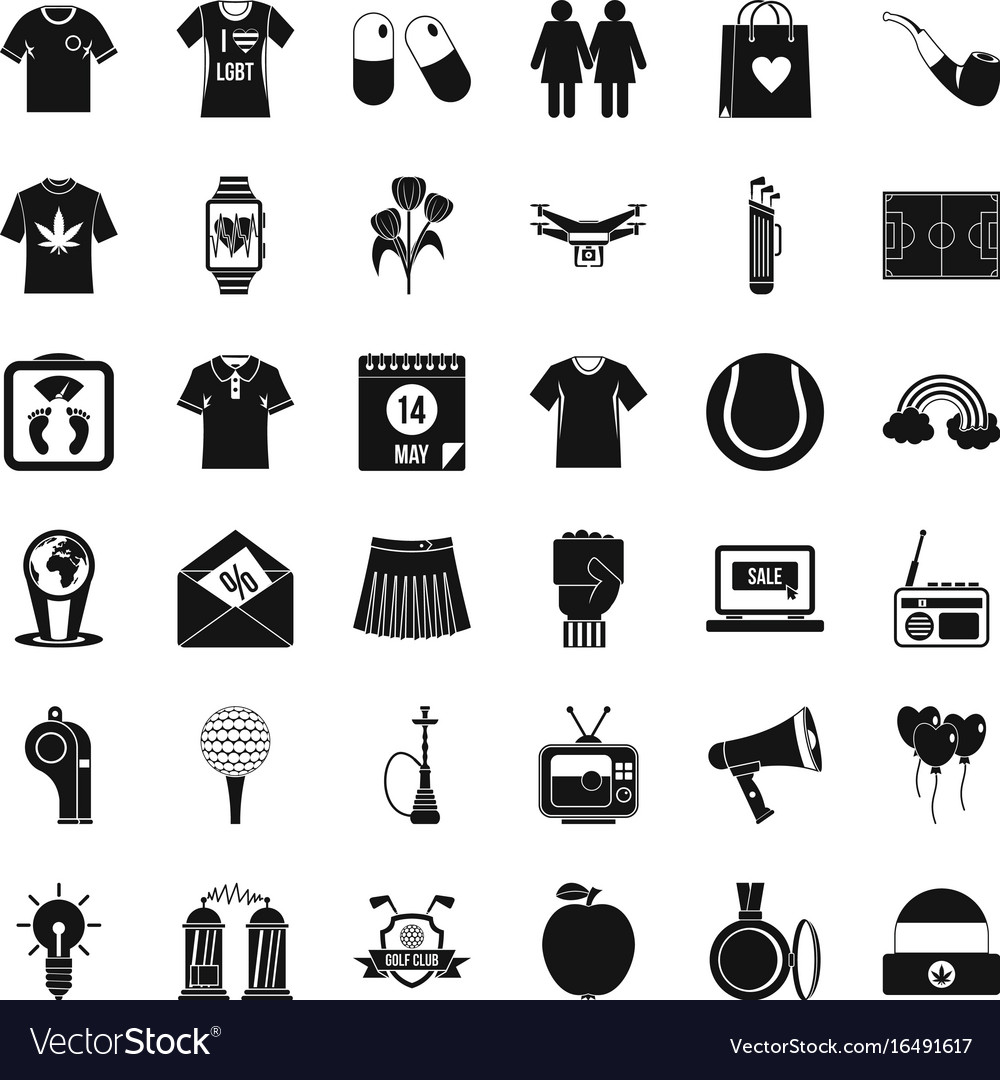 Polo icons set simple style vector image