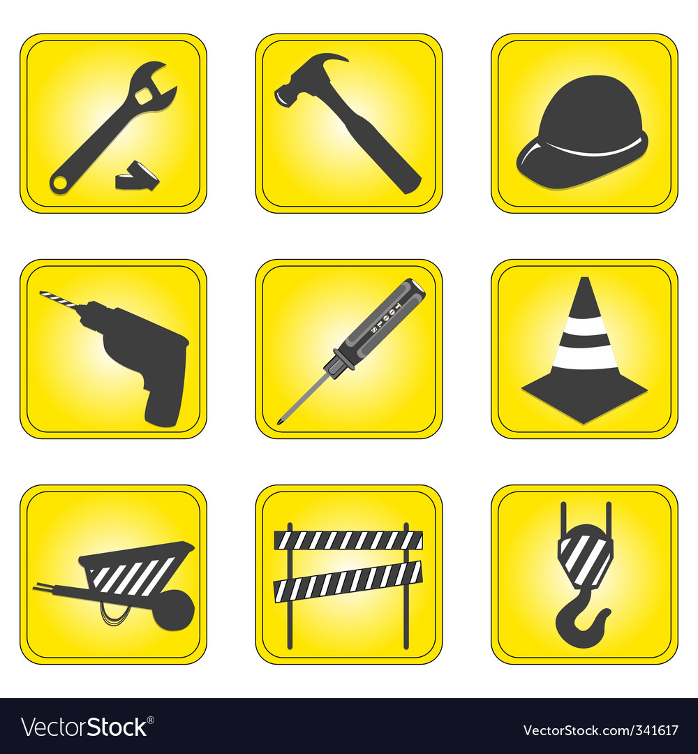 Under construction signs vector image