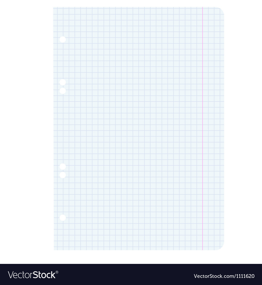 White squared blank white paper sheet vector image