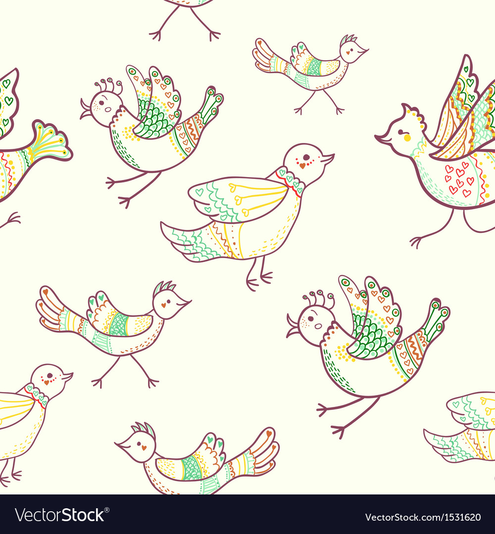 Birds seamless vector image