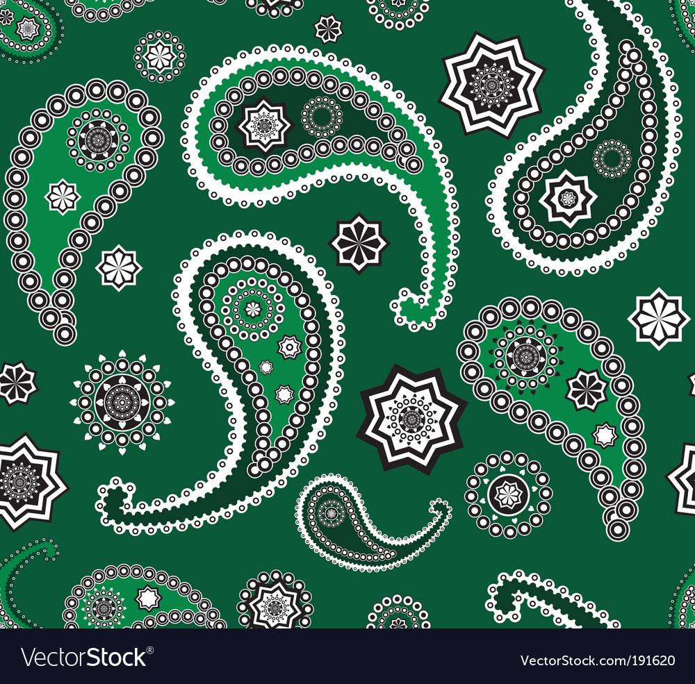Islamic paisley pattern vector image