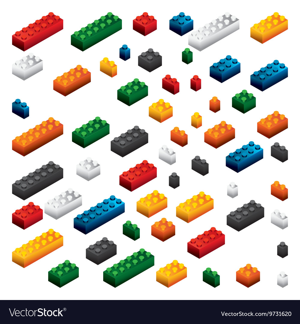 piece of lego icon game design graphic royalty free vector