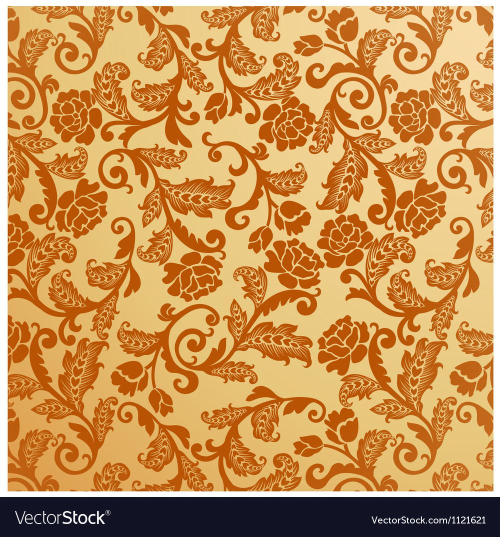 Antique seamless floral pattern Vintage vector image