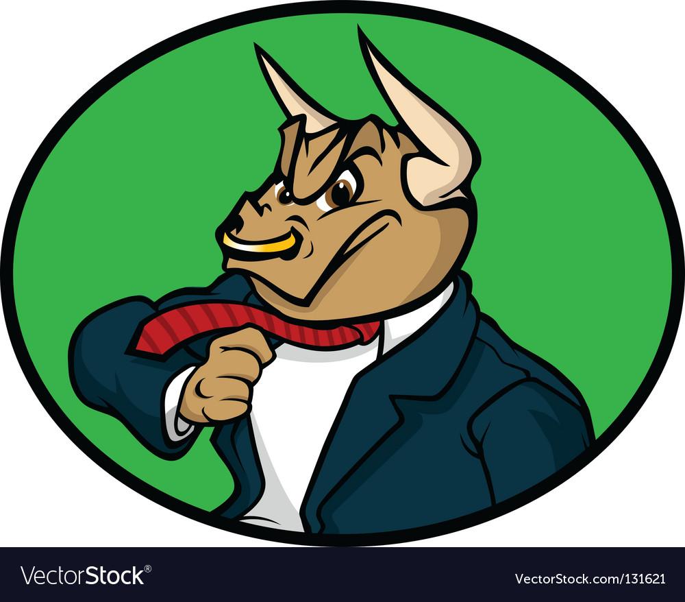 Bull market wall street vector image