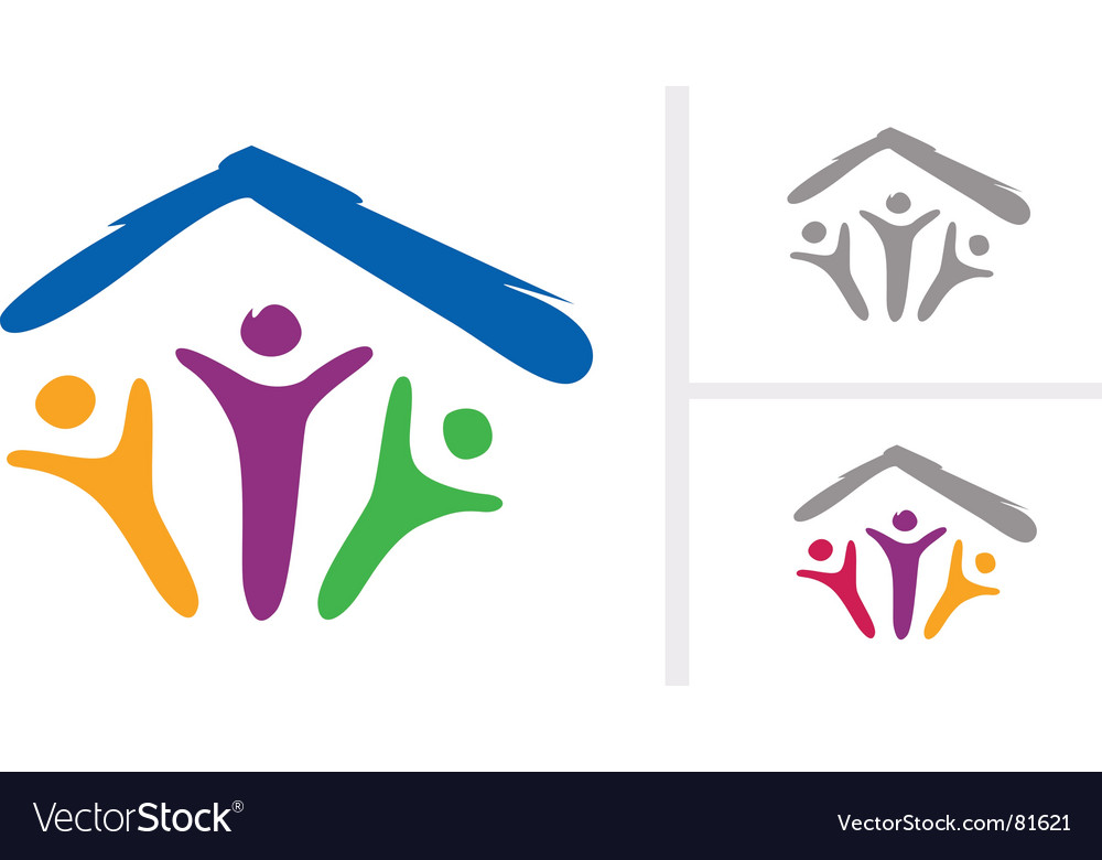 Under one roof vector image