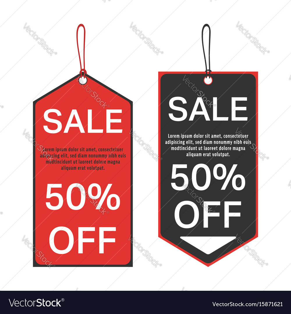 Sale tag template Royalty Free Vector Image VectorStock