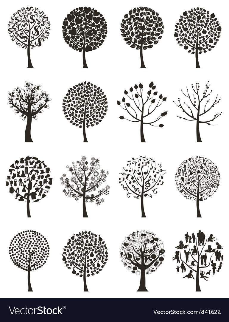 Wood tree vector image