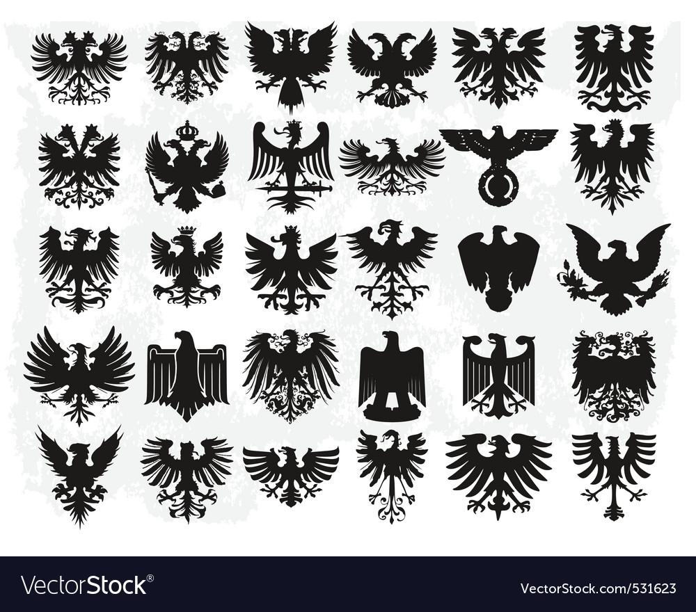 Heraldiic eagles Vector Image