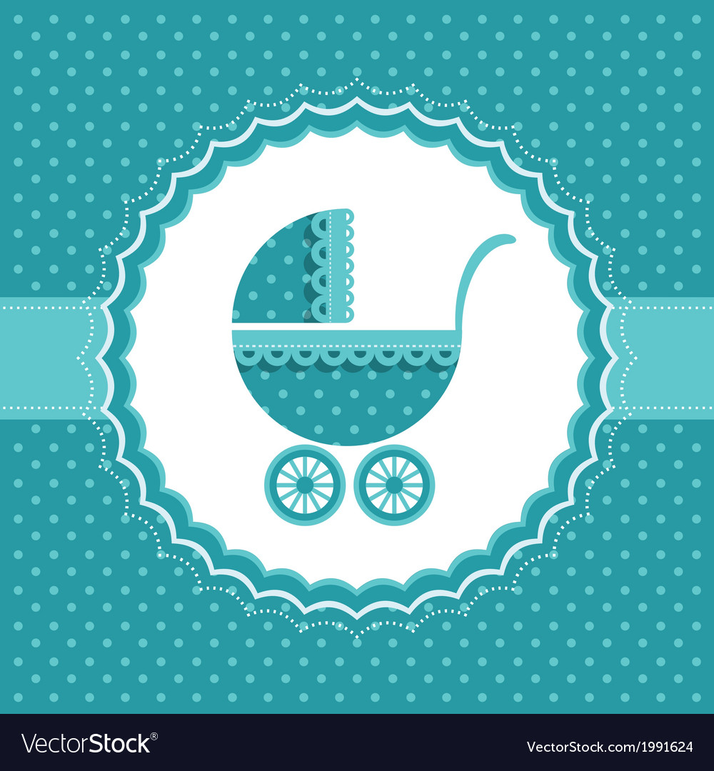 Baby Boy Announcement Card Royalty Free Vector Image - Boy announcement