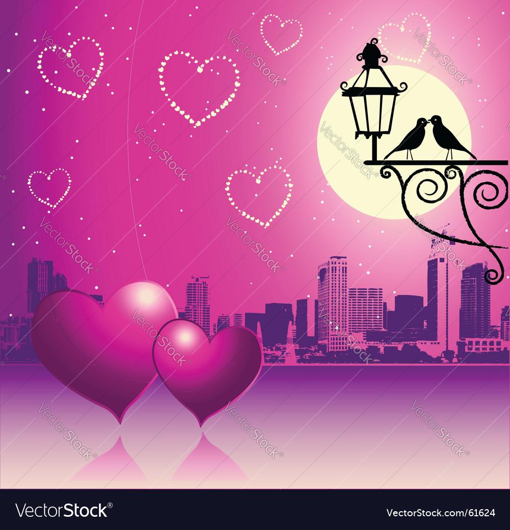 Valentine day urban scene couple vector image