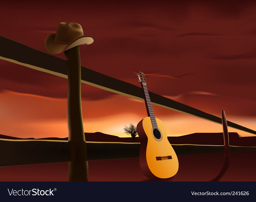 Prairie sunset vector image