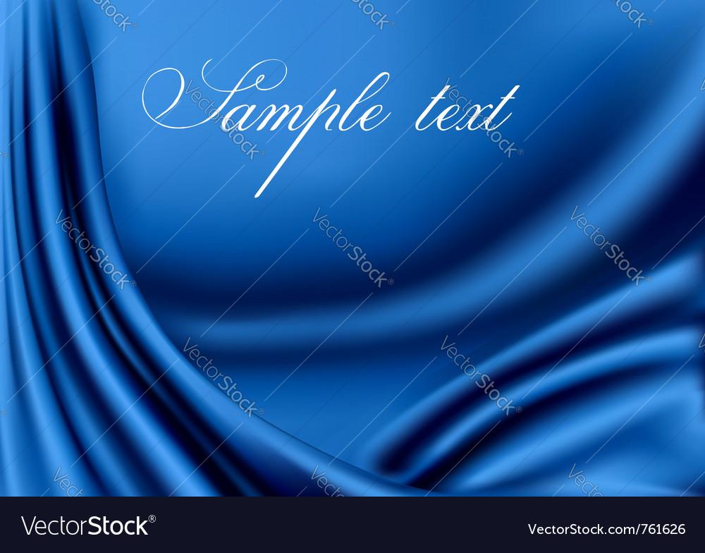 Elegant blue satin texture vector image