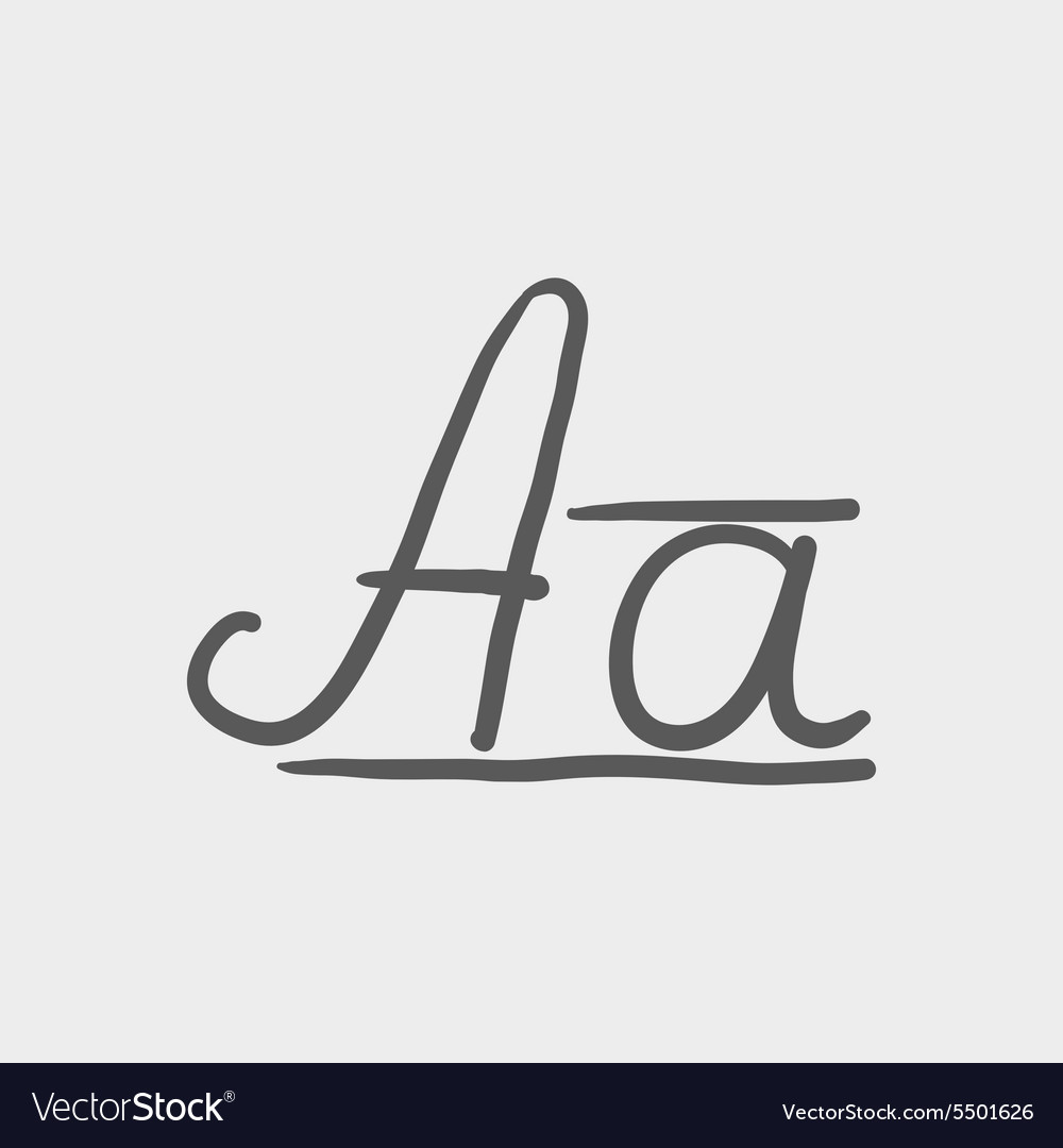Cursive letter a sketch icon royalty free vector image cursive letter a sketch icon vector image biocorpaavc Image collections