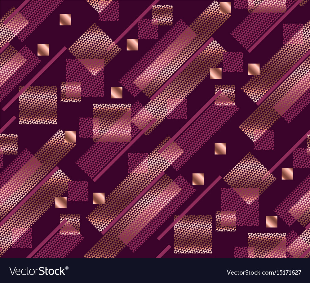 Geometry modern style seamless pattern vector image