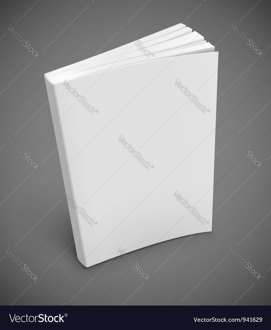 Blank Book Cover Vector Illustration Free ~ Blank book cover royalty free vector image vectorstock