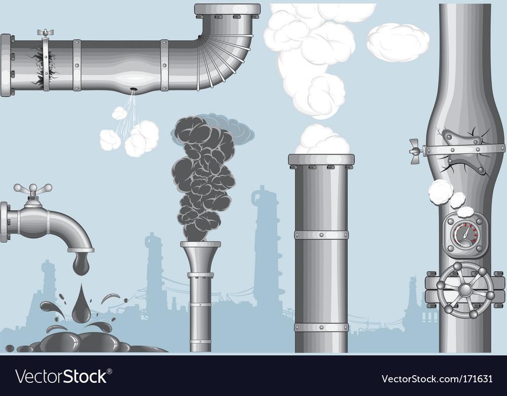 Elements industrial vector image