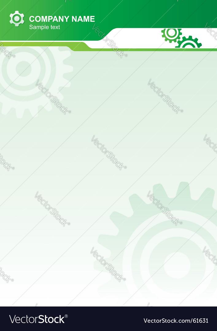 Industrial letterhead vector image