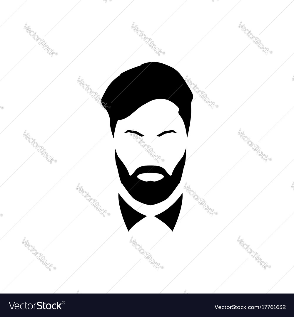 Avatar of a gentleman with a beard and mustache vector image