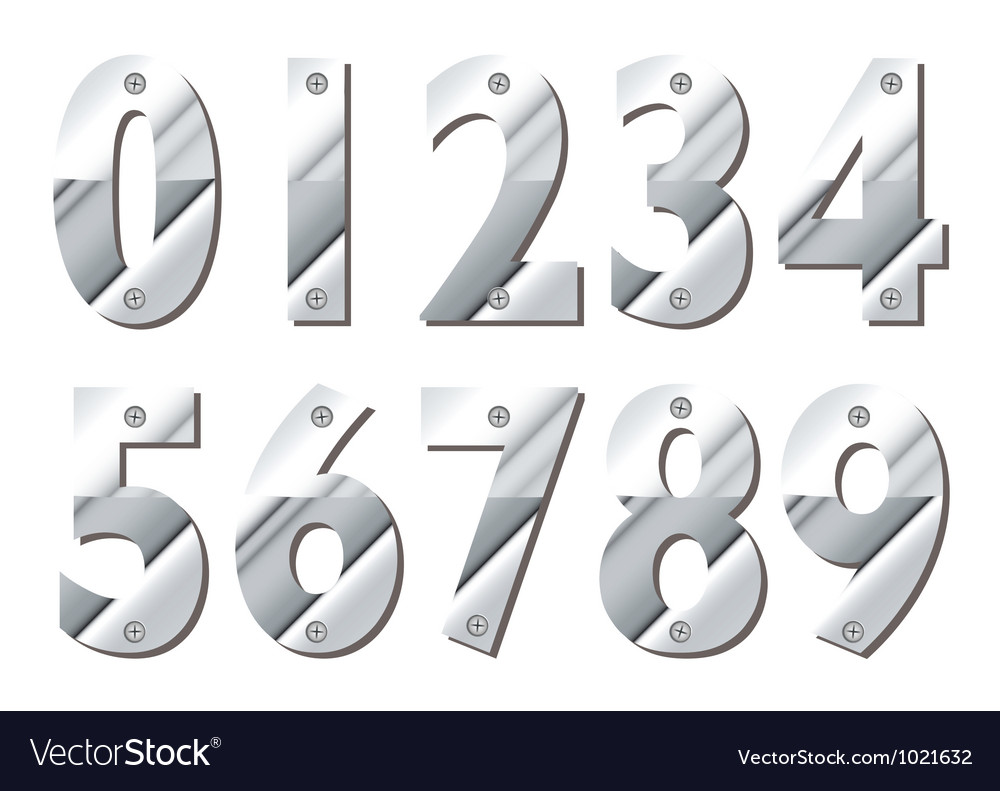 Silver numbers royalty free vector image vectorstock silver numbers vector image biocorpaavc Choice Image