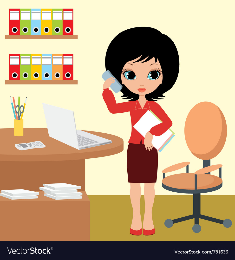 Pretty girl - business woman vector image