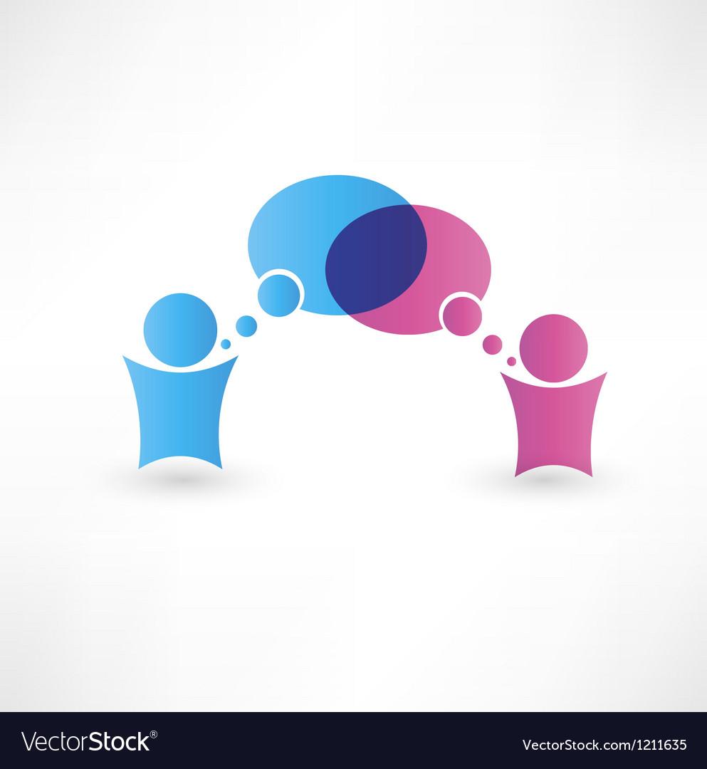 Dialog speech bubbles vector image