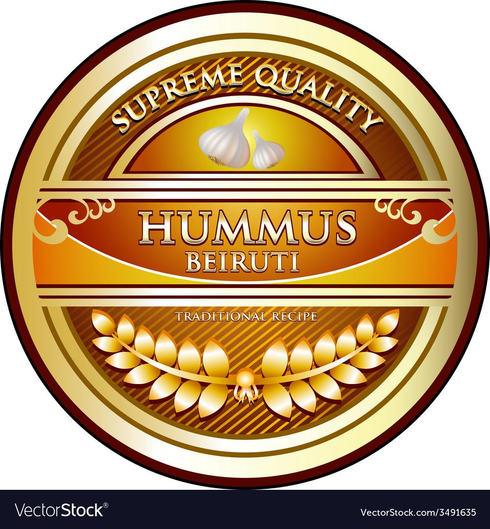 Hummus Beiruti vector image