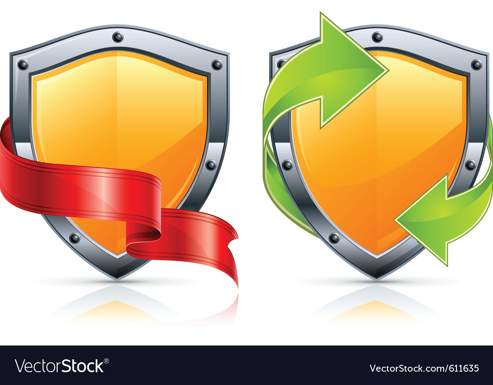 Security shield icons vector image